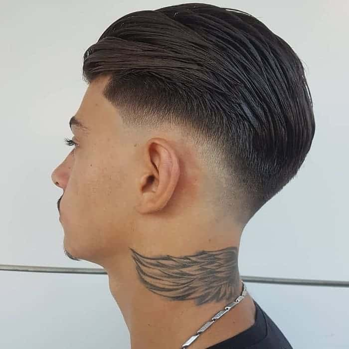 slick back low fade hairstyles for long hair