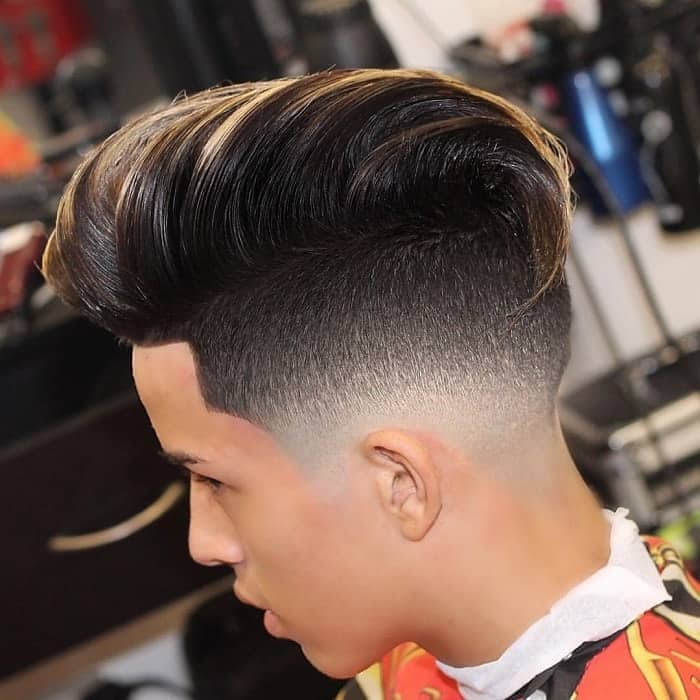 low fade hairstyles for long hair