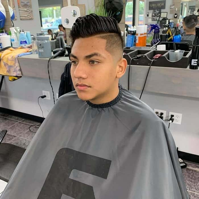 Low Tapered Fade Cut with Quiff
