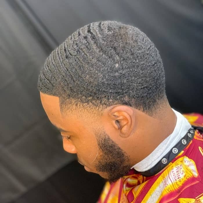 Low Taper Fade with Waves