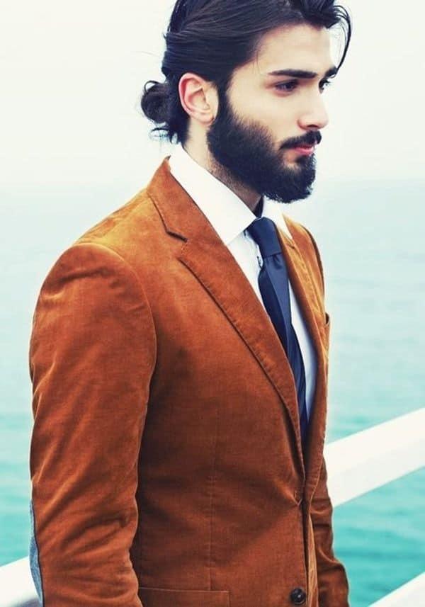 Elegant Man Bun hairstyle