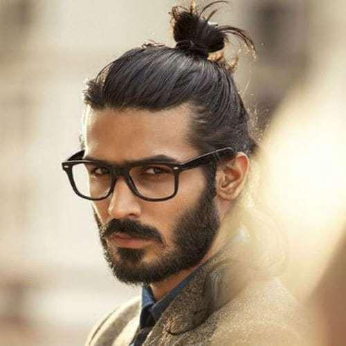cool man bun hairstyle