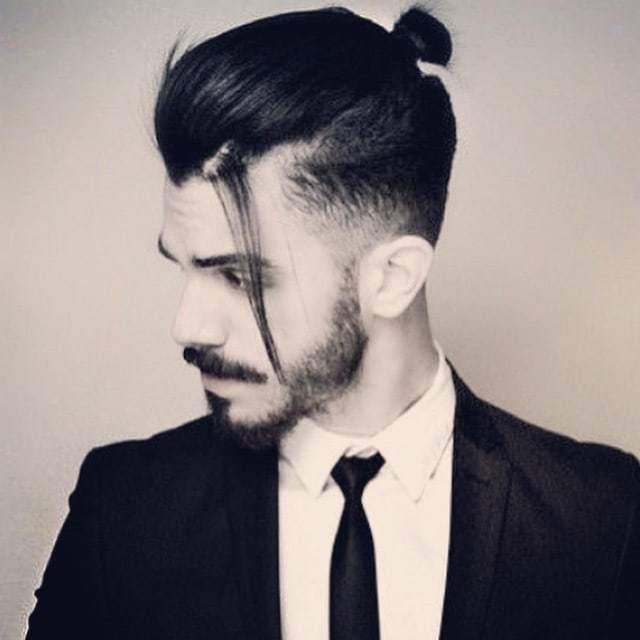 Semi Bun mans hairstyle