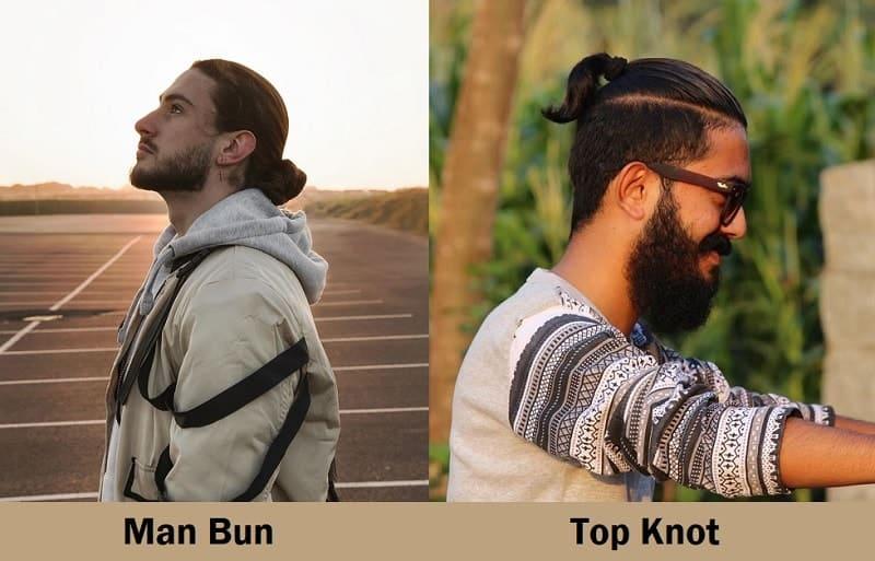 man bun vs top knot