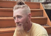 man bun with fade