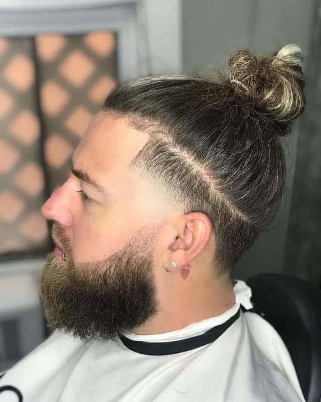 man bun fade hairstyles