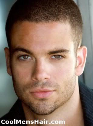 Picture of Mark Salling short military hairstyle.