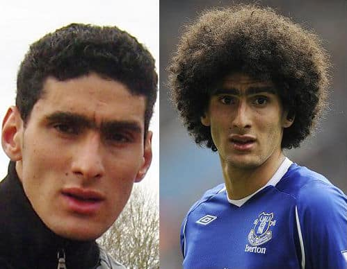 Picture of Marouane Fellaini afro hairstyle.