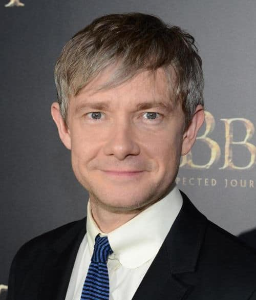Image of Martin Freeman graying hair.