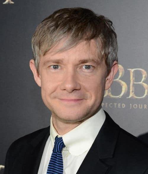 Image of Martin Freeman graying hair.