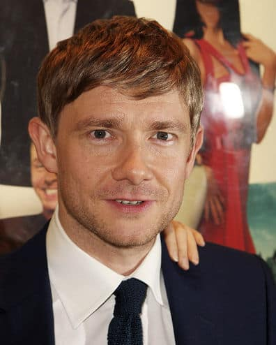 Photo of Martin Freeman side sweep fringe.