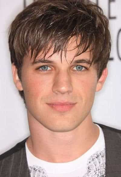 Matt Lanter textured bangs