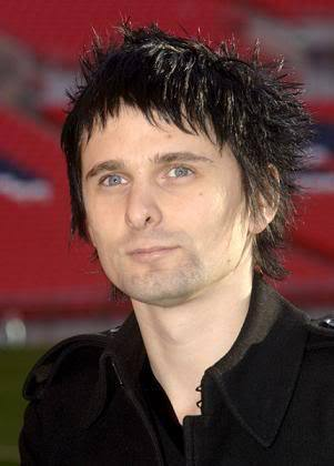Matthew James Bellamy spiky back hairstyle