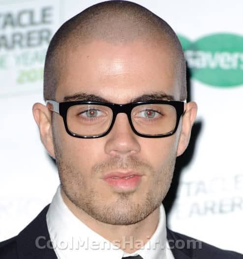 Picture of Max George shaved head.