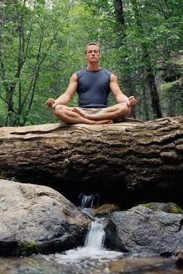 Image of meditating techniques to get rid of hair loss.