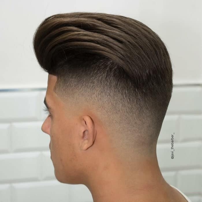 pompadour for medium length hair