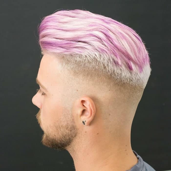 guy with medium length pink hair