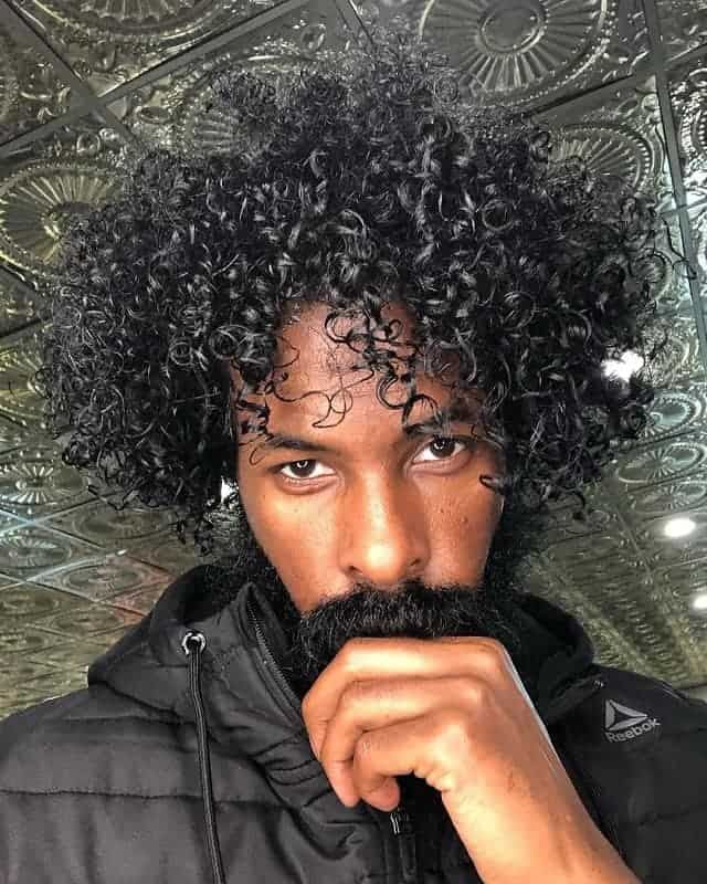 Medium Length Curly Hair For Black Men