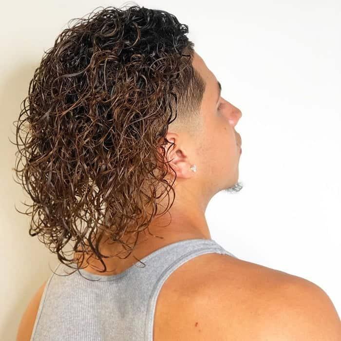 Medium Permed Hair for Men