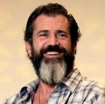 Image of Mel Gibson full beard.