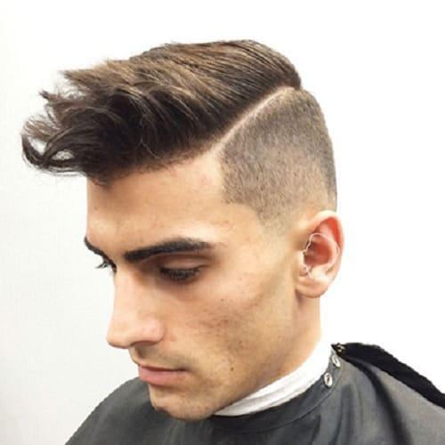brushed up fringe with bangs
