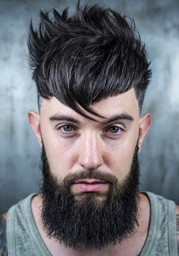 men hairstyle with bangs