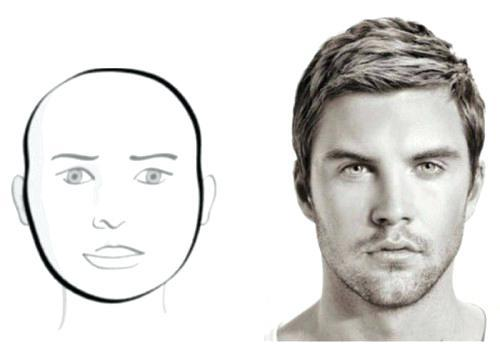 men round face haircut