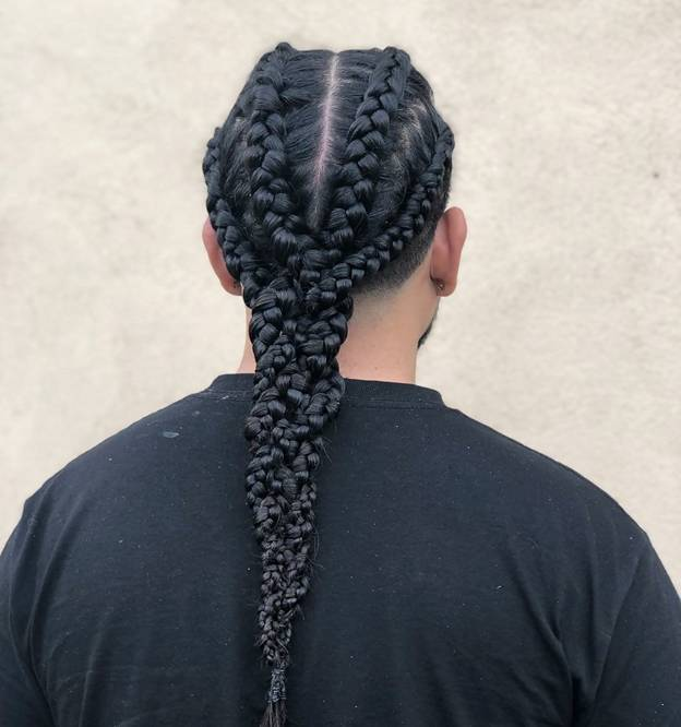 single braided hairstyles for men