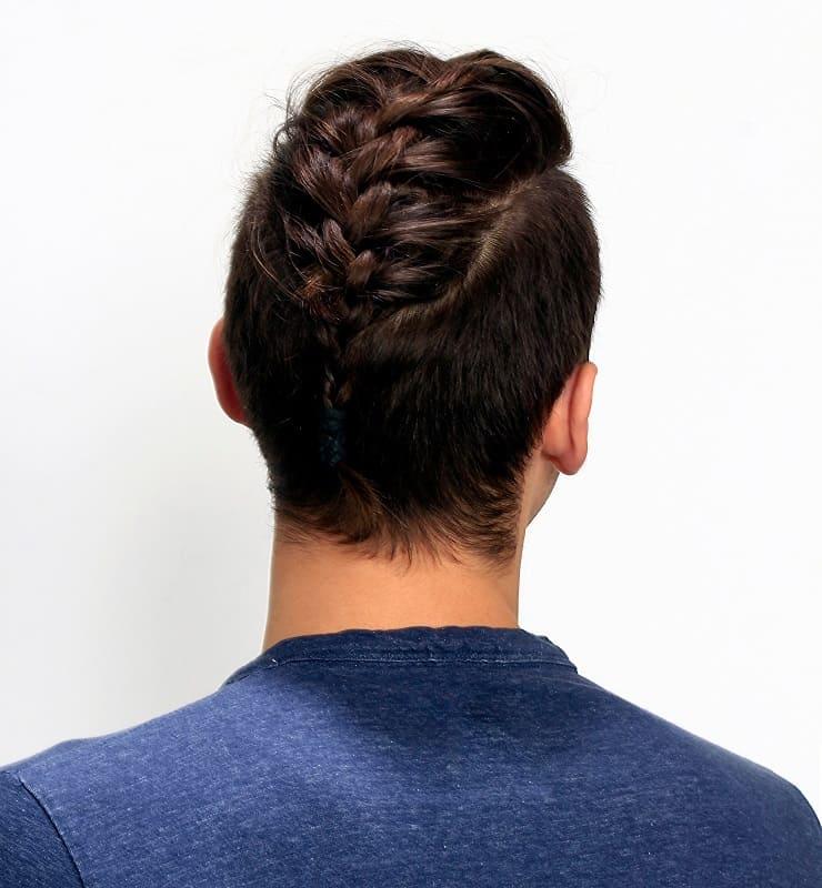 men's French braid for short hair