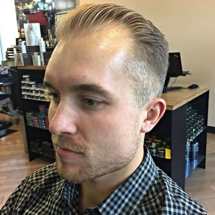 slick back thin hairstyles for men over 40