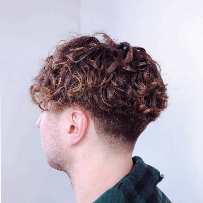 loose permed hair for men