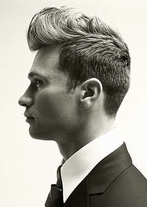 Picture of retro pompadour hairstyle.