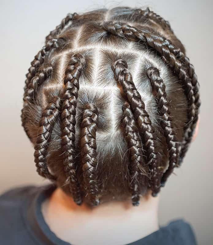 men's short box braids