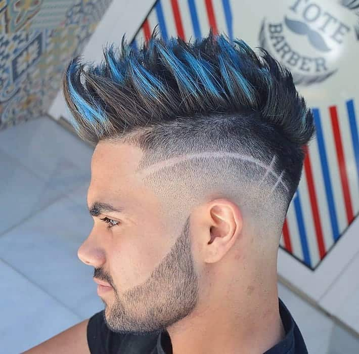 colorful mohawk for thick hair
