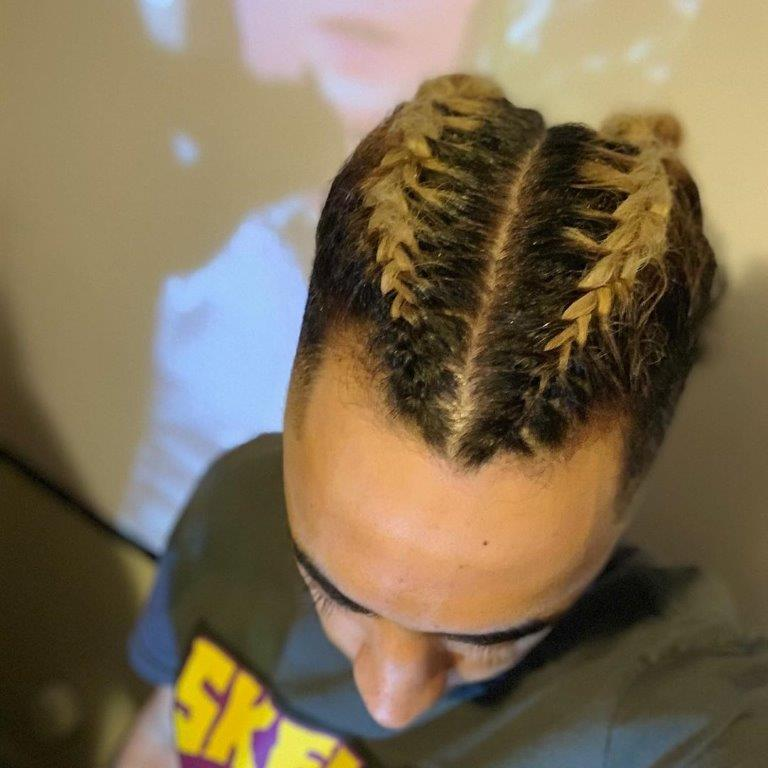 funky two braids for men