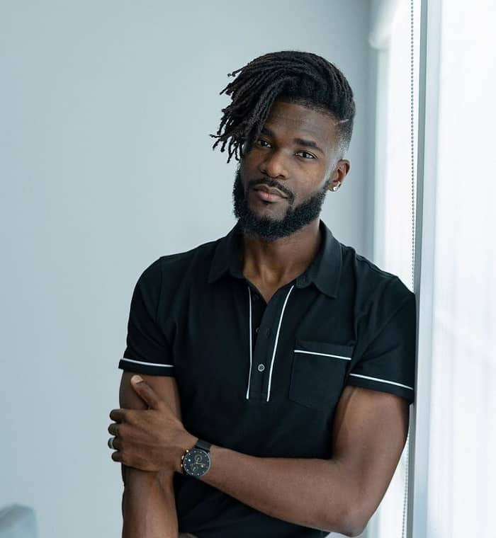 messy hairstyles for black men