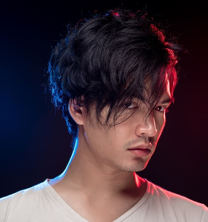messy hairstyles for asian men