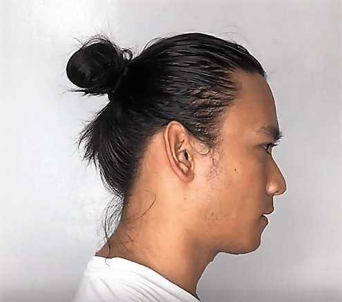 asain men man bun haircut