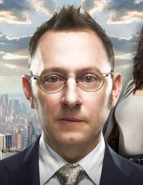 Picture of Michael Emerson hair with receding hairline.