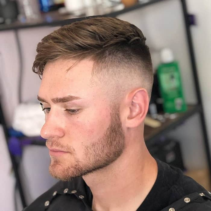 guy with mid bald fade hairstyle