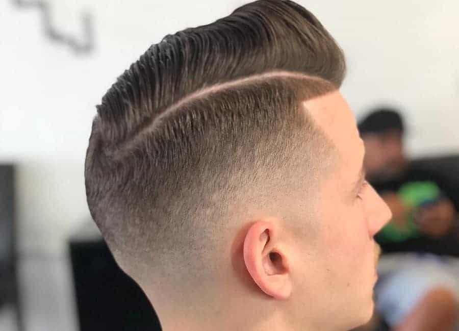 mid fade comb over
