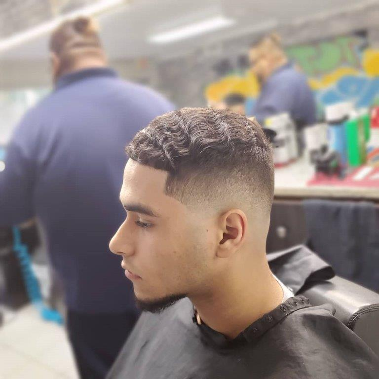 military buzz cut with flat top