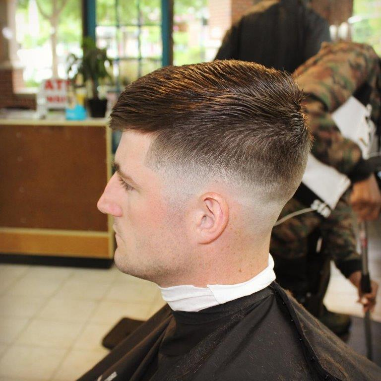 tapered military buzz cut