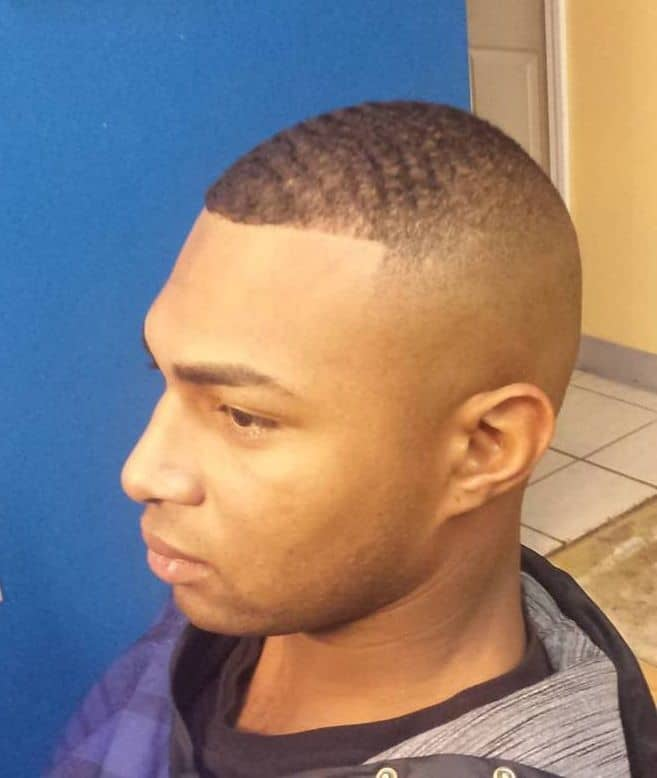 military crew cut with high skin fade