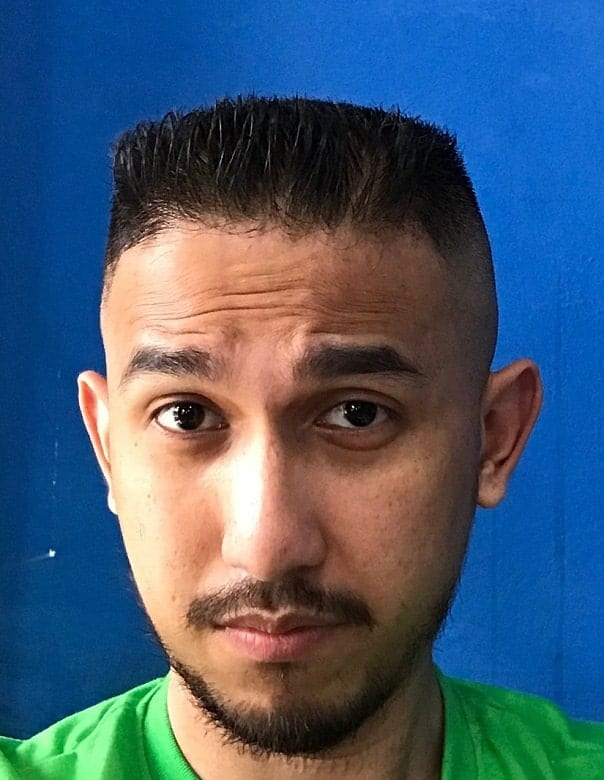 military haircut with flat top