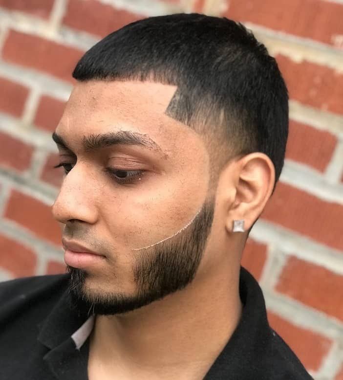 choppy military haircut for men
