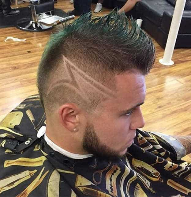 High Mohawk Buzz Cut with Design