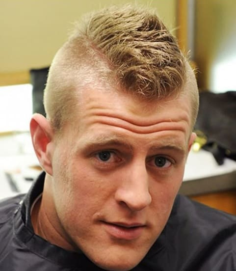 10 Trendy Short Buzz Cut Styles With Mohawk And Widow S Peak