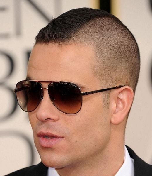 Mark Salling's Short Buzz Cut with Mohawk