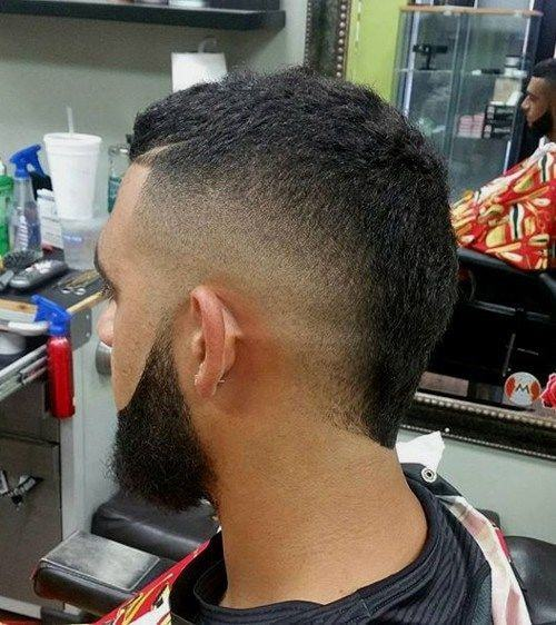 faded mohawk with short buzz cut